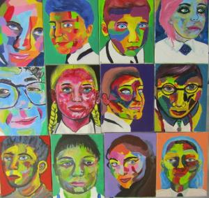 Year 9s make self portraits